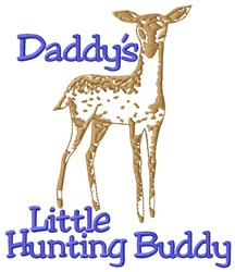 Daddys Buddy embroidery design