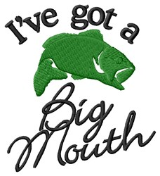 A Big Mouth embroidery design