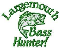 Bass Hunter embroidery design