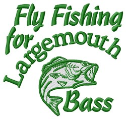 Fly Fishing embroidery design