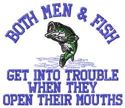 Men & Fish embroidery design
