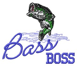 Bass Boss embroidery design
