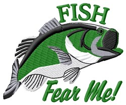 Fish Fear Me embroidery design