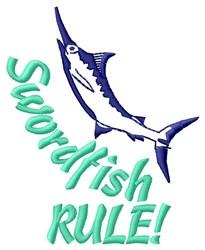Swordfish Rule embroidery design