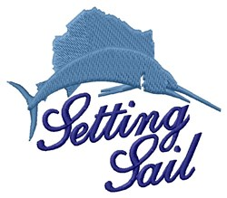 Setting Sail embroidery design