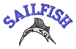 Sailfish embroidery design