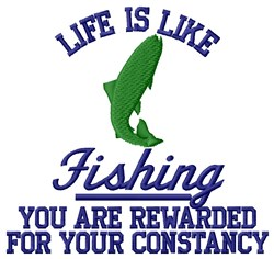 Constancy Fishing embroidery design