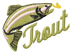 Trout embroidery design