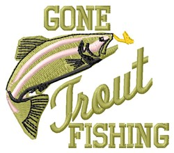 Trout Fishing embroidery design