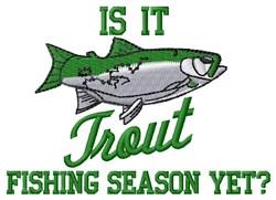 Trout Season embroidery design