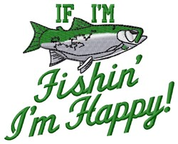 Happy Fishin embroidery design