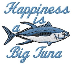 Tuna Happiness embroidery design