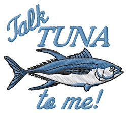 Talk Tuna embroidery design