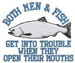 Fish Trouble embroidery design