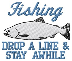 Drop Fishing Line embroidery design