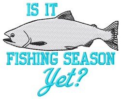 Fishing Season embroidery design