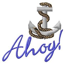 Ahoy Anchor embroidery design