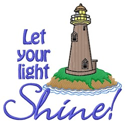 Let Light Shine embroidery design