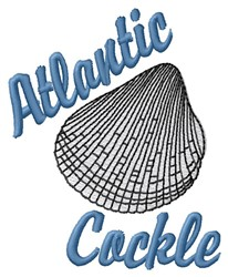 Atlantic Cockle embroidery design