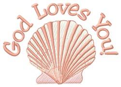 God Loves you embroidery design