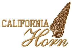 California Horn embroidery design
