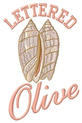 Lettered Olive embroidery design