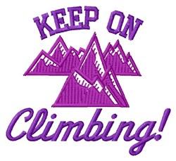Keep Climbing embroidery design