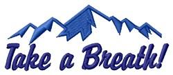Take A Breath embroidery design