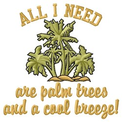 All I Need embroidery design