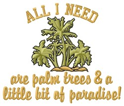 Need Paradise embroidery design