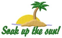 Soak Up Sun embroidery design