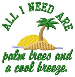 Need Palm Trees embroidery design