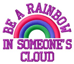 Be A Rainbow embroidery design