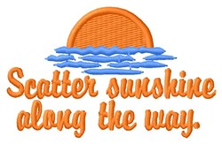 Scatter Sunshine embroidery design