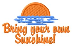 Bring Sunshine embroidery design