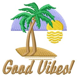 Good Vibes embroidery design