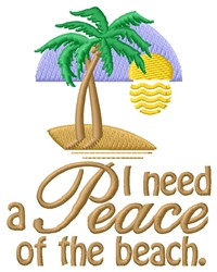 Peace Of Beach embroidery design