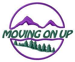 Moving Up embroidery design