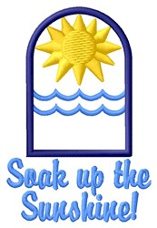 Soak Sunshine embroidery design