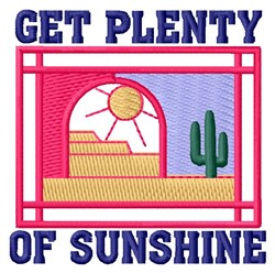 Plenty Of Sunshine embroidery design
