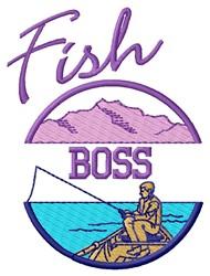 Fish Boss embroidery design