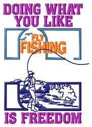 Fishing Freedom embroidery design