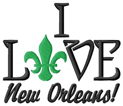 Love New Orleans embroidery design