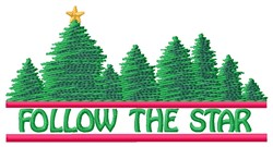 Follow Star embroidery design