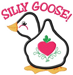 Silly Goose embroidery design