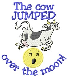Cow Jumped embroidery design