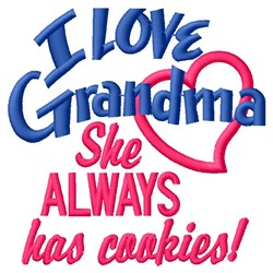 Grandmas Cookies embroidery design