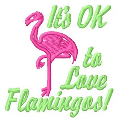 Love Flamingos embroidery design
