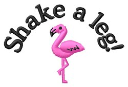 Shake A Leg embroidery design