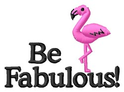Be Fabulous embroidery design